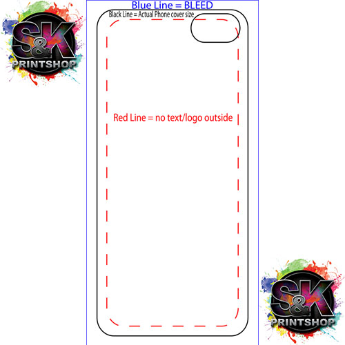 S k printshop dye sublimation and direct to garment printing for Iphone 5 sticker template
